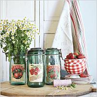 Vintage French Canning Jar Fraise