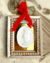 Artist Made Plaster Relief Classic Ornament