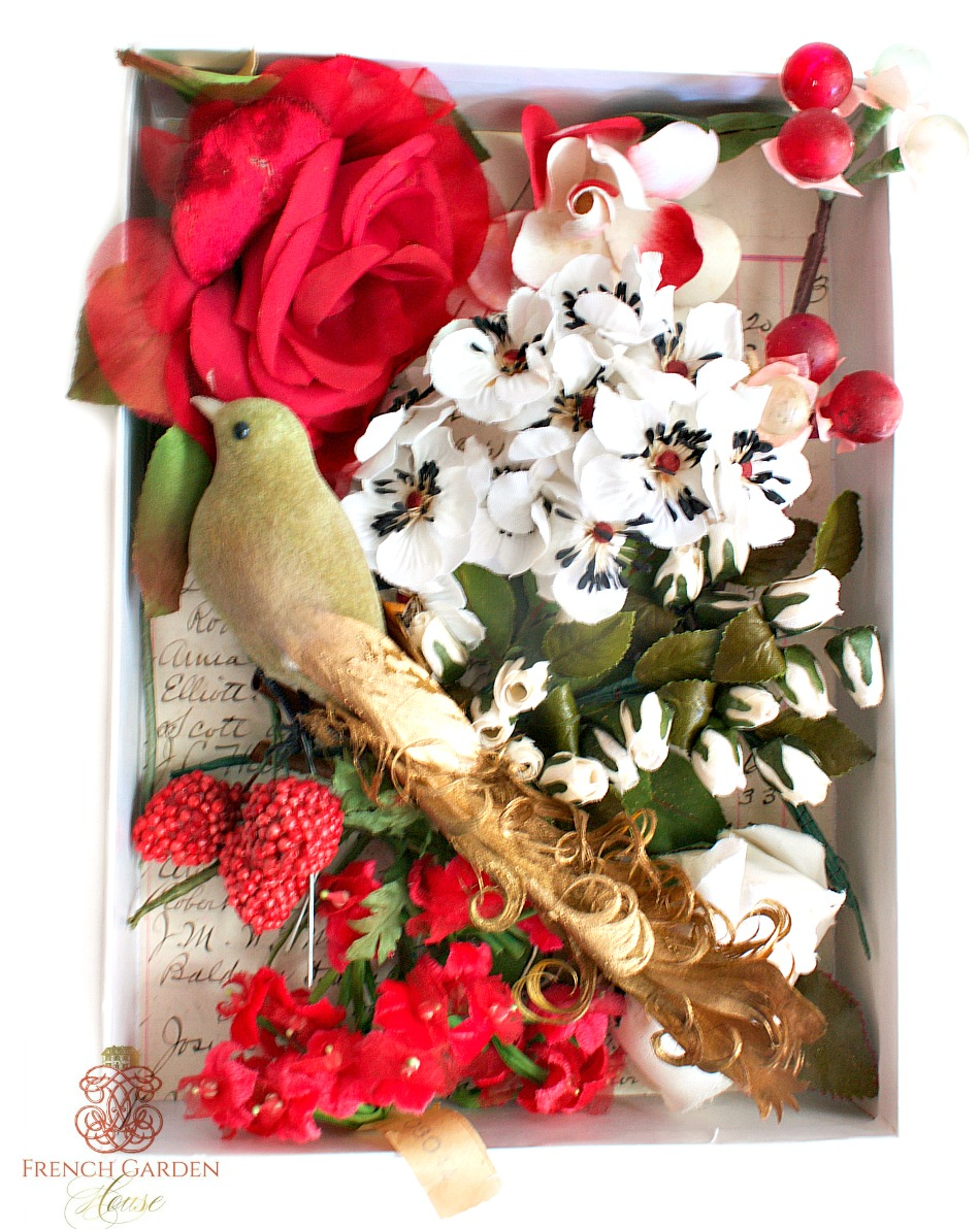Vintage Millinery Flowers Inspiration Box Rouge