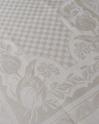 Antique Exclusif Damask Drying Towel Buttercream Tulips