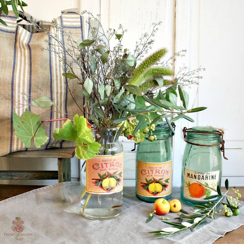 Vintage French Canning Jar Citron