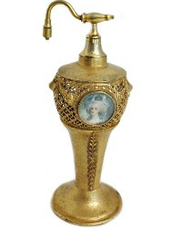 Apollo Studios Gilded Filigree Portrait Perfume Bottle