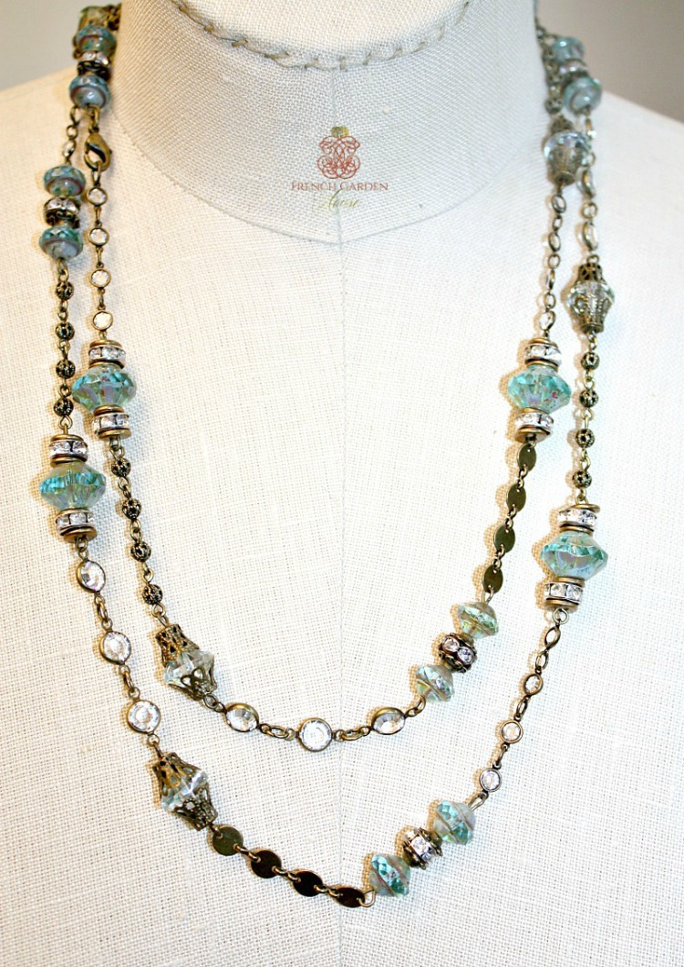 Aqua Wrap Necklace