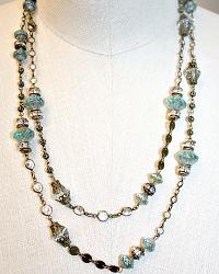 Georgia Hecht Aqua Wrap Necklace