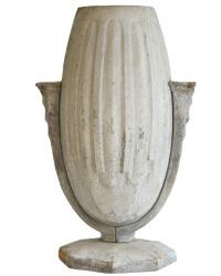 Art Deco French Gris Cast Iron Vase