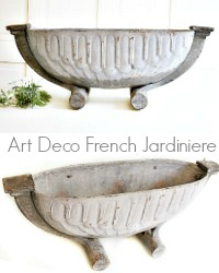 Art Deco French Gris Cast Iron Jardiniere