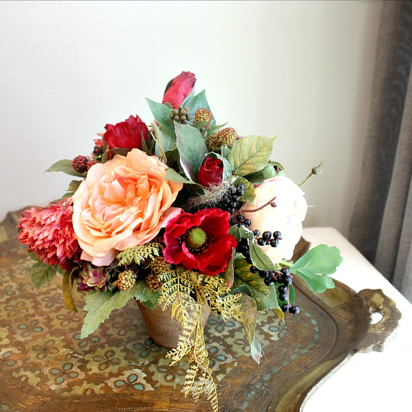Enchanted Hues Faux Floral Arrangement