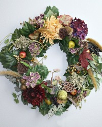 25% OFF-Luxurious Large Autumn in Bourgogne Wreath