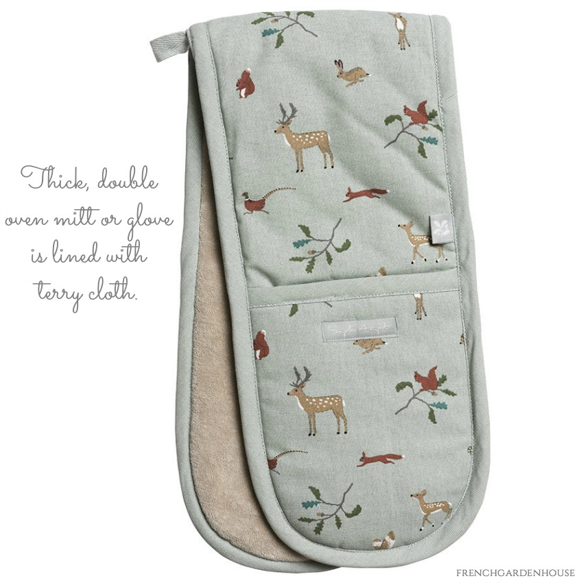 Autumn Forest Apron & Double Oven Glove Gift Set
