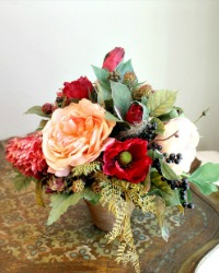 Autumn Hues Faux Floral Arrangement