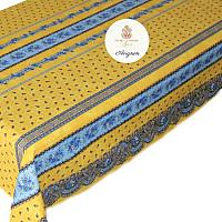 French Avignon Cotton Tablecloth Yellow and Blue