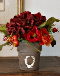 Country Avallon Merlot Hydrangea Pair of Arrangements-Last pair!