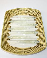 Antique French Majolica Asparagus Barbotine Faience Asparagus Sarreguemines Server