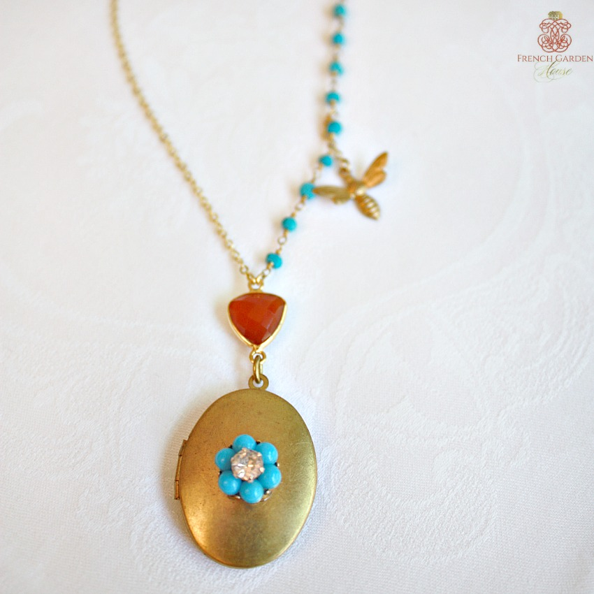 One-of-a-Kind Gemstone Locket Necklace