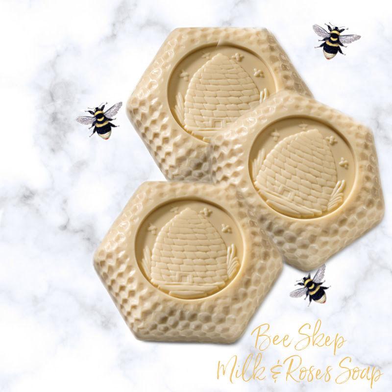 Bee Skep Milk & Royal Jelly Soap Set
