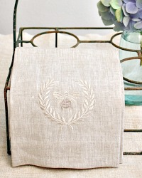 Luxurious Linen Towel Napoleonic Bee Flax
