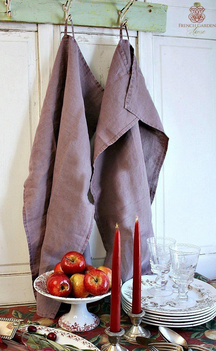 Belgian Linen Bistro Lavender Aubergine