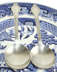 Beverly Hills Hotel Silver Ice Cream Spoons Set of 2