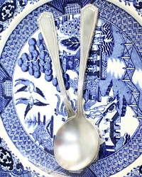 Beverly Hills Hotel Silver Bouillon Spoons Set of 2