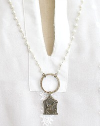 Georgia Hecht Bird Charm Necklace