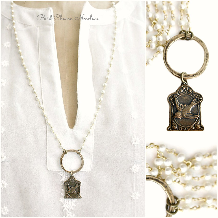 Georgia Hecht Bird Charm Necklace