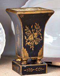 Antique French Tole Peinte Jardiniere Plant Urn