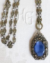 Georgia Hecht Infinite Blue Pendant Necklace