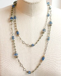 French Denim Blue Wrap Necklace
