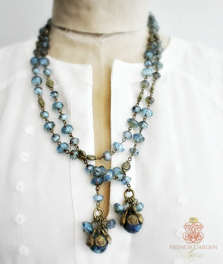 Georgia Hecht Blue Lariat Necklace