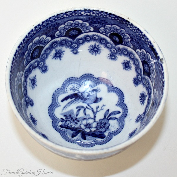 Antique 19th Century French or Flemish Blue White Tea Cup Bowl