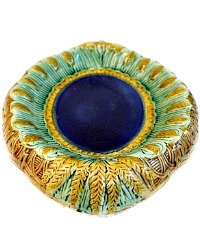 Rare 19th Century Majolica Bread Platter Wheat