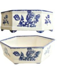 Blue & White Porcelain Rose Centerpiece