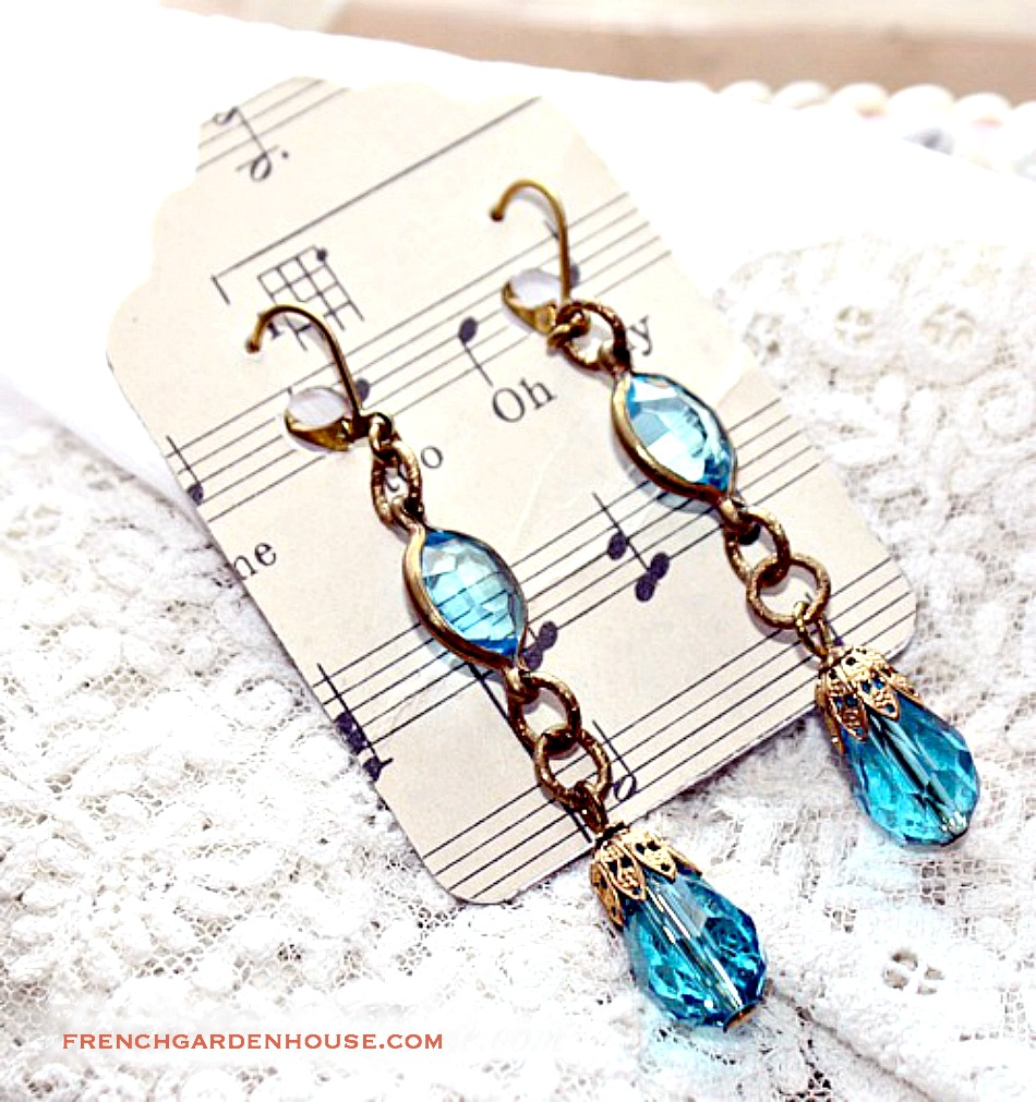 Limited Edition Gulf Breezes Aqua Blue Crystal Earrings
