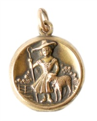 Antique Child's Gold Fill Little Bo Peep Locket