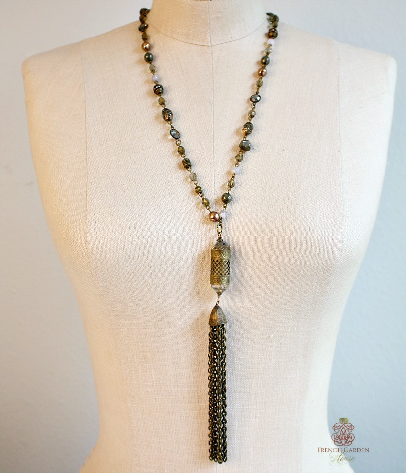 Black Diamond Tassel Necklace