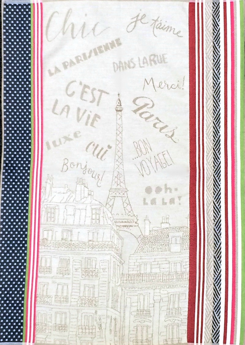 Paris Drying Tea Towel from France
