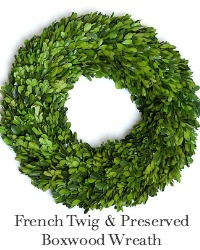 Preserved Boxwood Country French Wreath