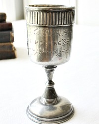 Antique Victorian Silver Trophy Running Broad Jump