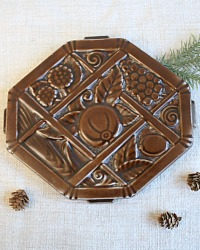 French Deco Chocolate Dessous de Plat Trivet