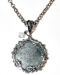 French Sterling Silver Le Enfant Lutece Paris Medal Necklace