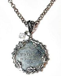 French Sterling Silver Le Enfant Lutece Paris Medal Necklace