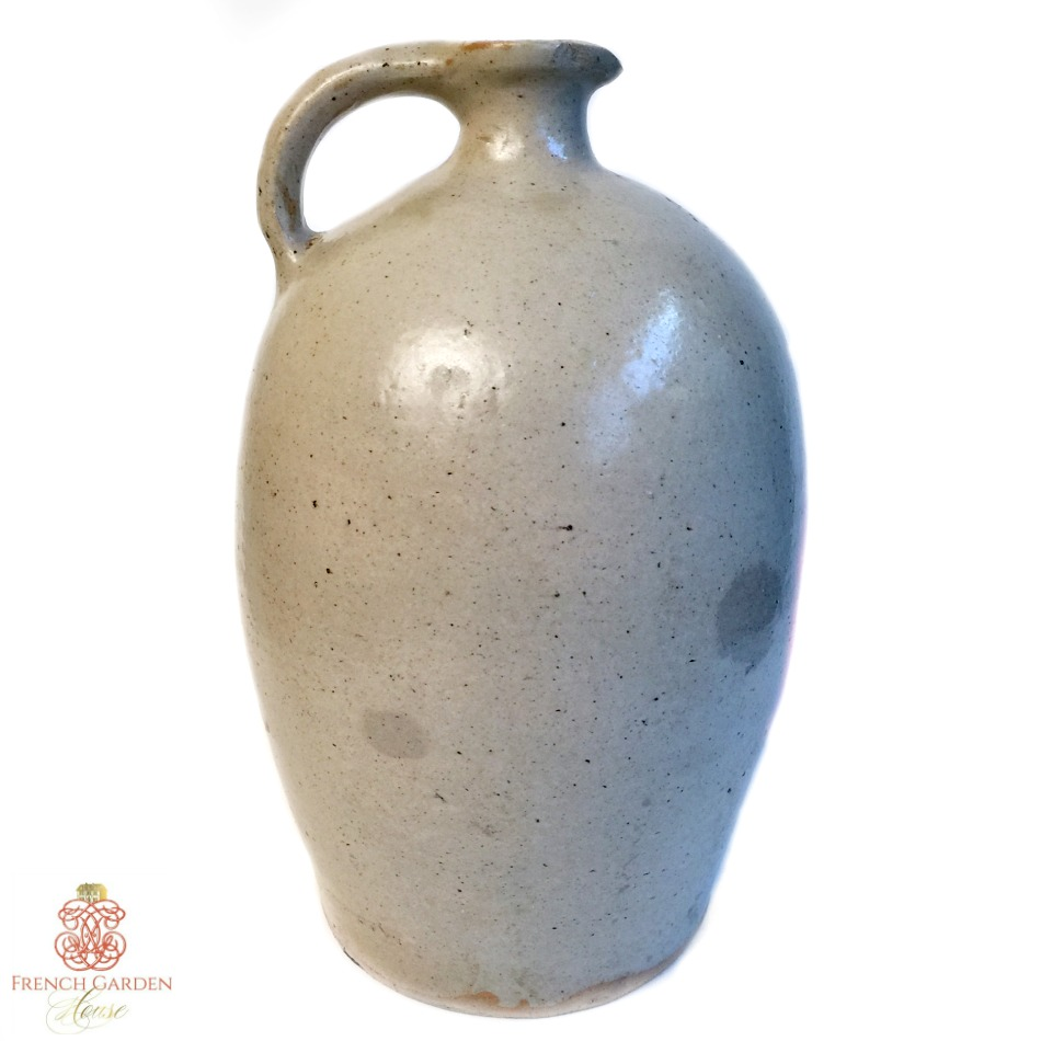 19th Century French Country Stoneware Calvados Jug