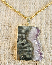 Natural Amethyst Pendant Necklace Camila