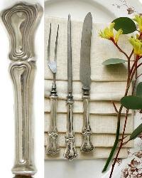Antique Sterling Silver Art Nouveau Lady's Carving 3 pc. Set