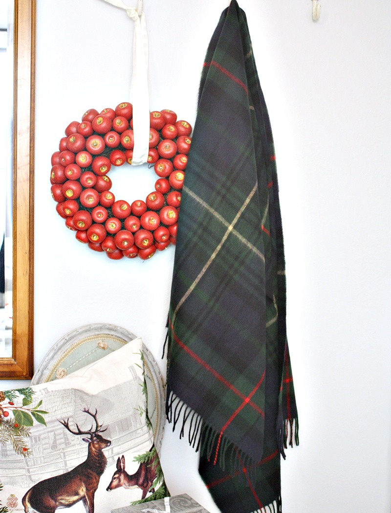 Luxurious Cashmere Wrap Green Plaid