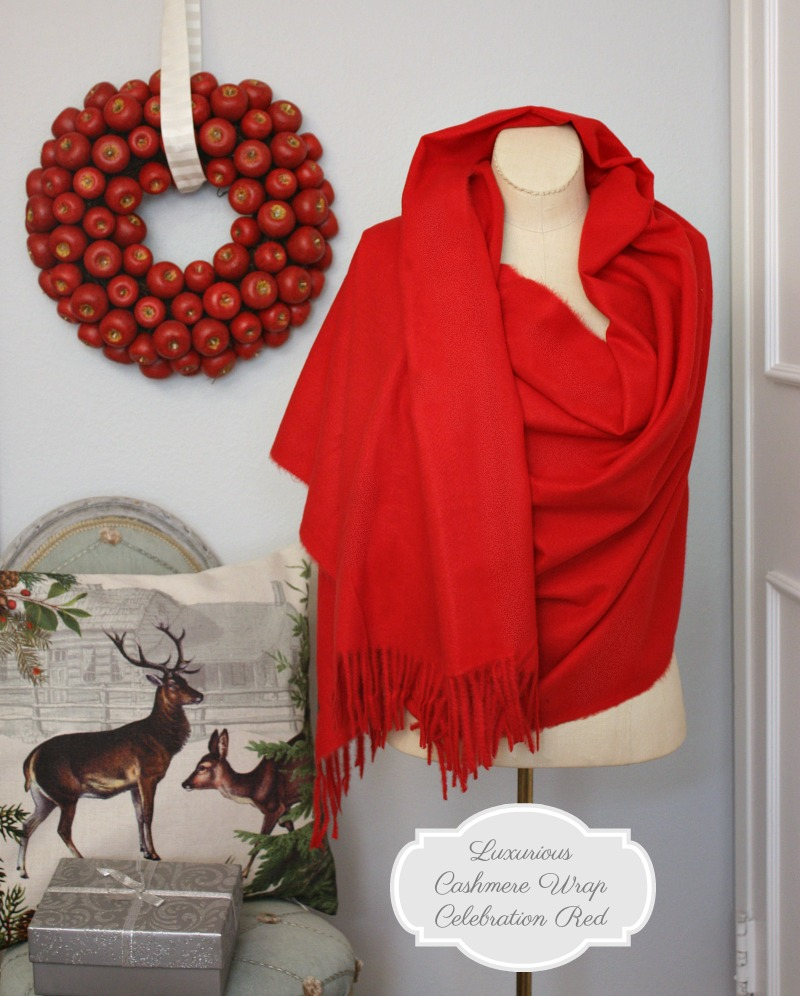 Luxurious Cashmere Wrap Celebration Red