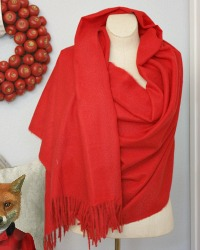Luxurious Cashmere Wrap L'amour Red