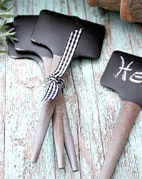 Chalkboard Plant Stakes Set of 6