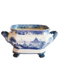 Exceptional Antique Blue and White Jardiniere