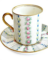 Vintage Adderly English Chintz Demitasse Cup & Saucer